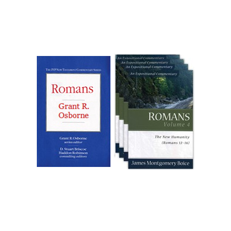 Romans Commentary VALUE bundle - 2-pack (4 volumes)