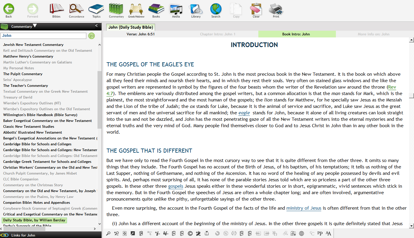 Helpful detailed introduction for each Bible book (accessible directly by the 'Book Intro' tab)